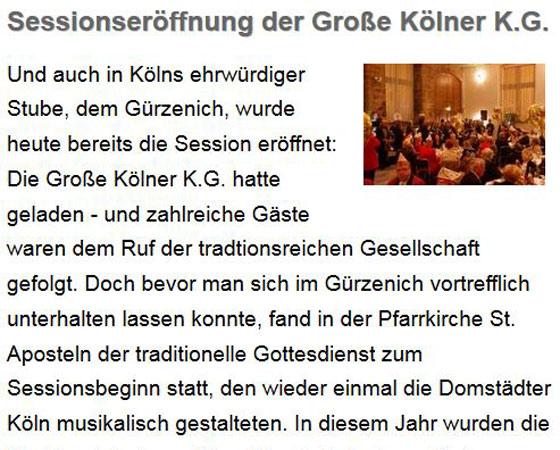 Koelsche-Fastelovend.de, 07.11.2015